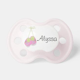 Den personifierade Posh rosan skor babynappar Napp