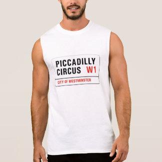 Den Piccadilly cirkusen, den London gatan Sleeveless T-shirt