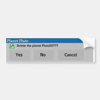 Den planetPluto bildekalet Bildekal