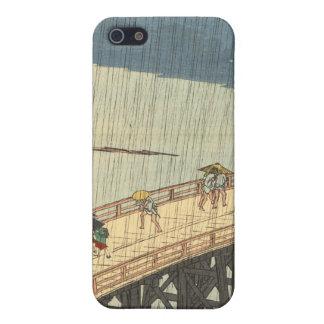 Den plötsliga duschen över Shin-Ōhashi överbryggar iPhone 5 Skydd