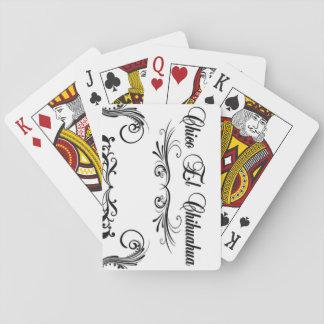 Den pokerkortChico El chihuahuaen skrivar design Spelkort