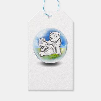 den polara björnen bubblar in presentetikett
