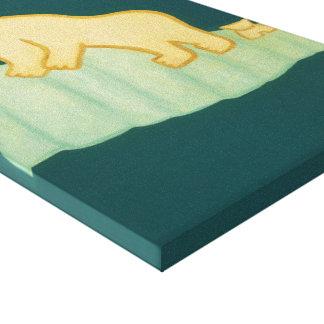 Den polara björnen och hans unge besöker London Canvastryck