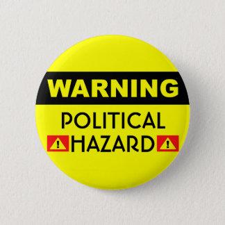 Den politiska faran knäppas standard knapp rund 5.7 cm