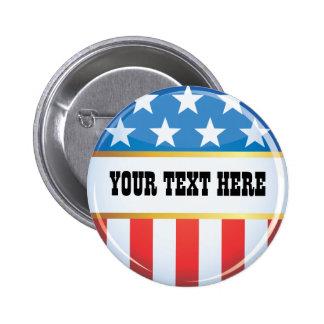 Den politiska USA flaggan knäppas Pins
