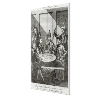 Den polska Plumb tårtan, c.1772 Canvastryck