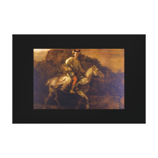 Den polska Rider', en Rembrandt_Dutch styr Canvastryck