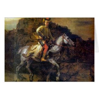 Den polska ryttaren av Rembrandt Harmenszoon Hälsningskort