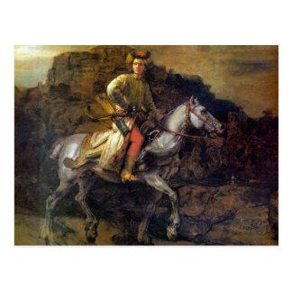Den polska ryttaren av Rembrandt Harmenszoon Vykort