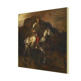 Den polska ryttaren av Rembrandt Van Rijn Canvastryck