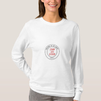 Den post- leveransen daterar rakt tee shirt