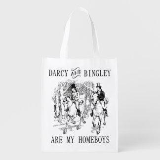 Den pride- & för fördom Herr Darcy & Herr Bingley Återanvändbar Påse