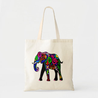 Den Psychedelic elefanten hänger lös Tygkasse