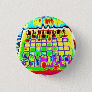 den psychedelic färgschackbrädet klämmer fast mini knapp rund 3.2 cm