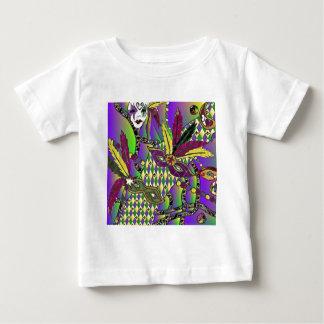 Den Psychedelic Mardi Gras fjädern maskerar T-shirt