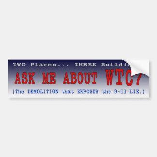 """Den PTP'S-""""fråga mig om"""" bildekalet WTC7 - utforma Bildekal"""