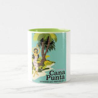 Den Punta Cana Dominikanska republiken reser Två-Tonad Mugg