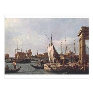 Den Punta dellaen Dogana vid Canaletto Vykort