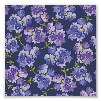 Den purpurfärgade akvarellen blomstrar det blom- fototryck