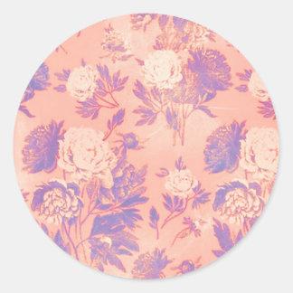 Den purpurfärgade blom- klistermärken för