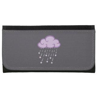 Den purpurfärgade krullningen regnar molnet med