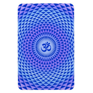 Den purpurfärgade lotusblommablommameditationen ru rektangulära magneter
