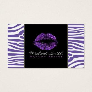 Den purpurfärgade moderna sebran för visitkort