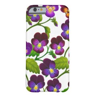 Den purpurfärgade Pansyträdgården blommar fodral Barely There iPhone 6 Skal