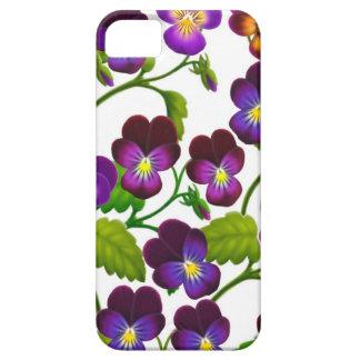 Den purpurfärgade Pansyträdgården blommar fodral iPhone 5 Hud