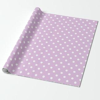 Den purpurfärgade polkaen pricker presentpapper