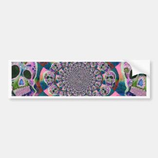 Den purpurfärgade scullen virvlar runt design bildekal