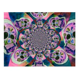 Den purpurfärgade scullen virvlar runt design vykort