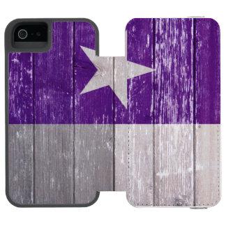 Den purpurfärgade Texas flagga målade gammalt trä