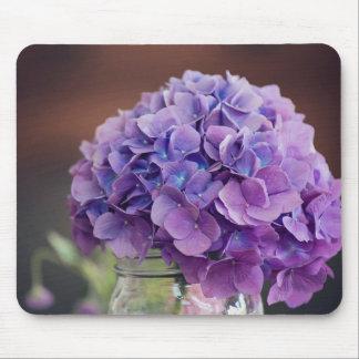 Den purpurfärgade vanlig hortensia i Masonburk Musmatta