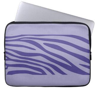 Den purpurfärgade zebra tryck flår mönster laptop datorskydd