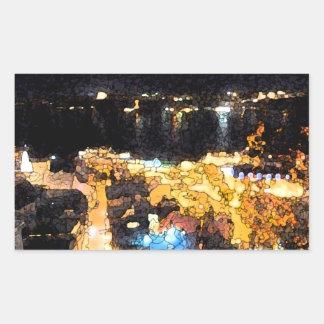 Den Quebec natten beskådar Rektangulärt Klistermärke