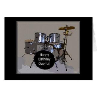 Den Quentin grattis på födelsedagen trummar Hälsningskort