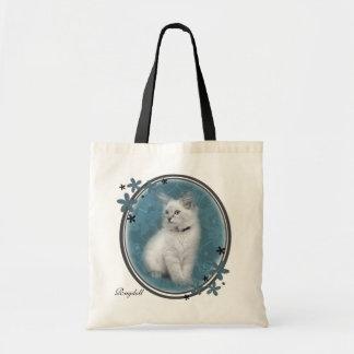 Den Ragdoll kattungen hänger lös Budget Tygkasse