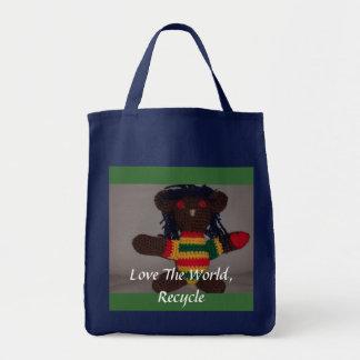 Den Rasta björnen, en kärlek 2, älskar Worlen… Tygkasse