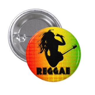 Den Rasta för den ReggaemusikRastaman gitarren Mini Knapp Rund 3.2 Cm