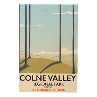 Den regionala Colne dalen parkerar den England Trätavla