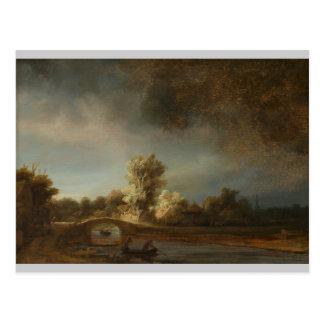 Den Rembrandt stenen överbryggar Vykort