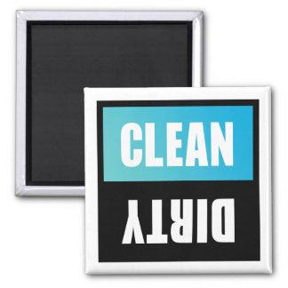 Den rena diskaren eller smutsar ner undertecknar magnet