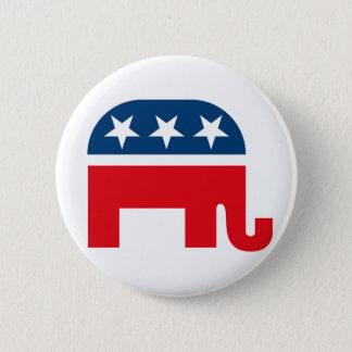 Den republikanska elefanten Pinback knäppas Standard Knapp Rund 5.7 Cm