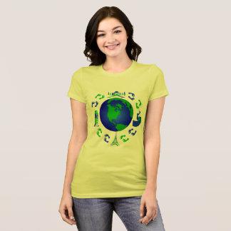 Den resande fotdesignen t shirts