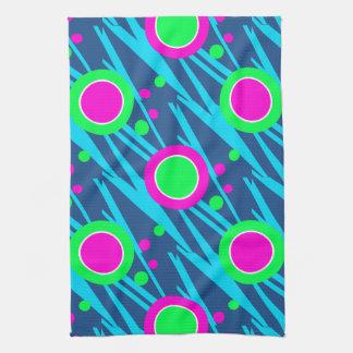 Den Retro abstrakt polkaen pricker mönster Kökshandduk