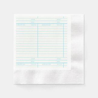 Den Retro bibliotekboken daterar rakt kortet Pappersservetter