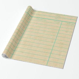 Den Retro bibliotekboken daterar rakt kortet Presentpapper