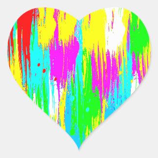 Den Retro Corey tiger80-tal målar droppande Hjärtformat Klistermärke