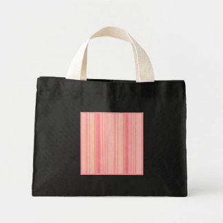 Den Retro färgpersikacitronen görar randig liten Tote Bag